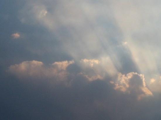 Rain Clouds over Estes Park