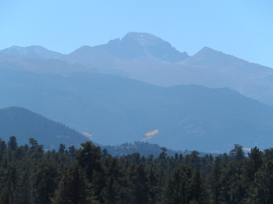 Long's Peak in the distance