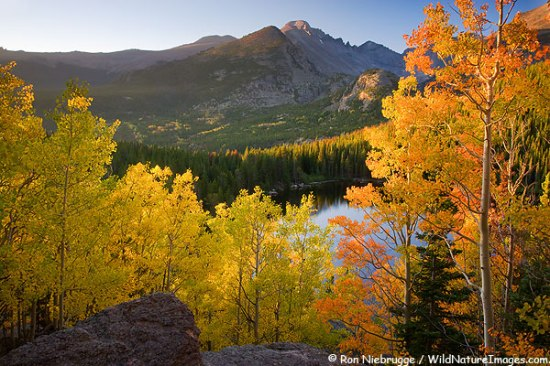 Autumn colors at Bear Lake, Rocky Mountain National Park, Colorado.